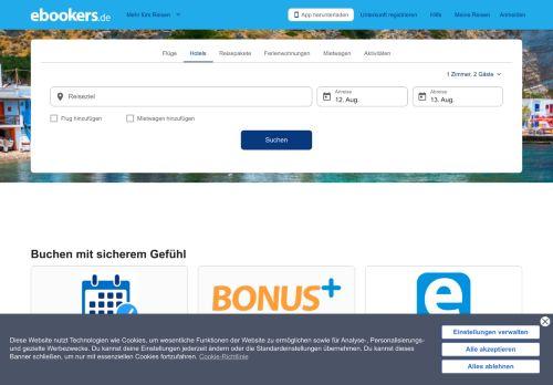 ebookers.de Website Screenshot