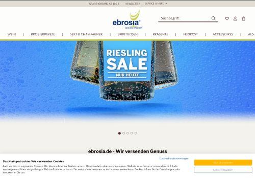 ebrosia Website Screenshot