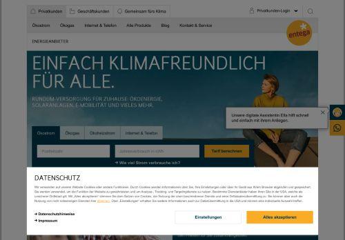 ENTEGA Website Screenshot