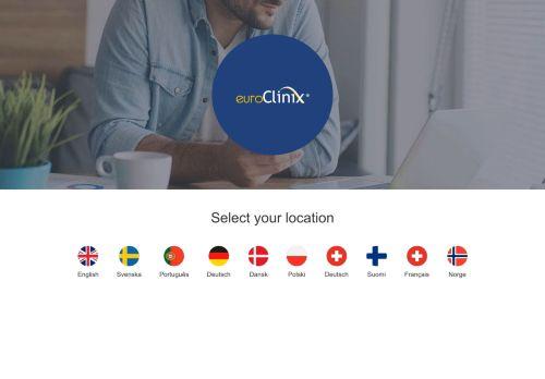 euroClinix Website Screenshot