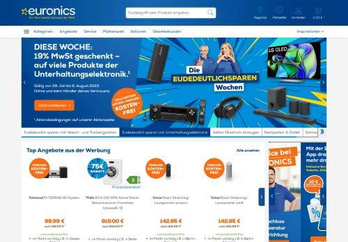 EURONICS Website Screenshot