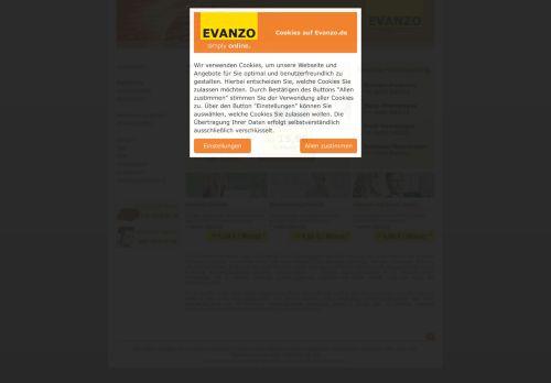 EVANZO Website Screenshot
