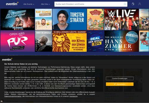eventim Website Screenshot