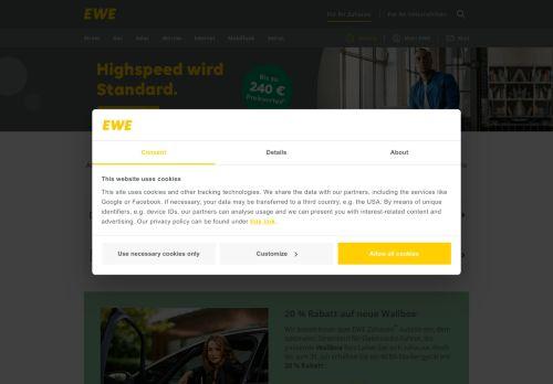 EWE Website Screenshot