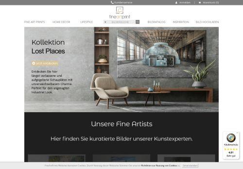 FineArtPrint Website Screenshot