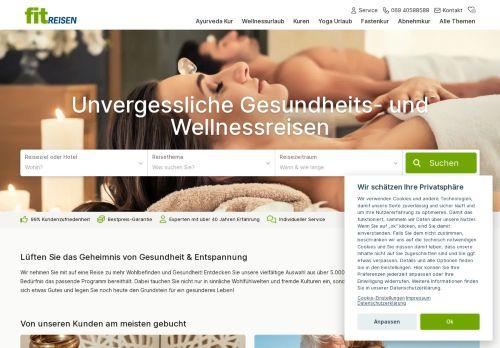 FIT Reisen Website Screenshot