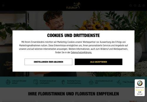 FLEUROP Website Screenshot