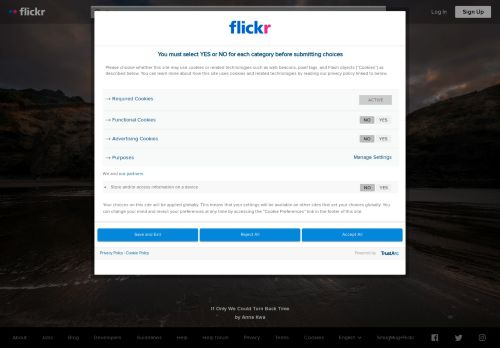Flickr Website Screenshot