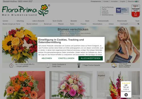 FloraPrima.de Website Screenshot