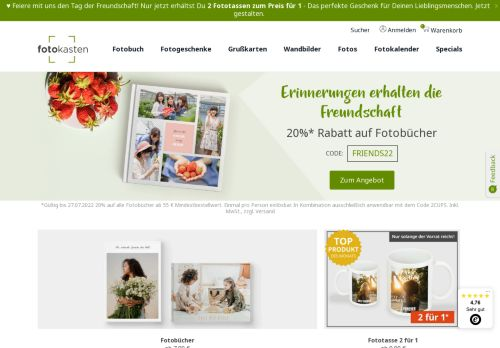 Snapfish Website Screenshot