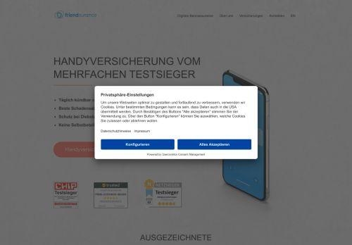 Friendsurance Website Screenshot