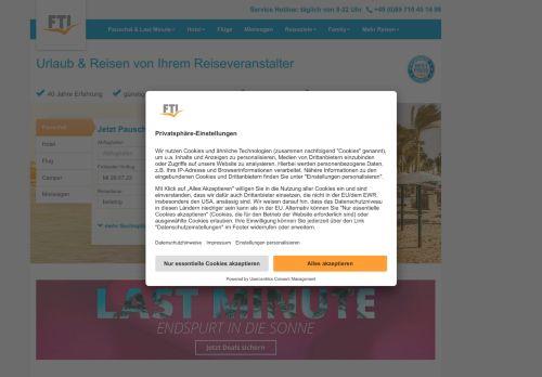 FTI Website Screenshot