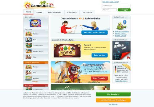 GameDuell Website Screenshot