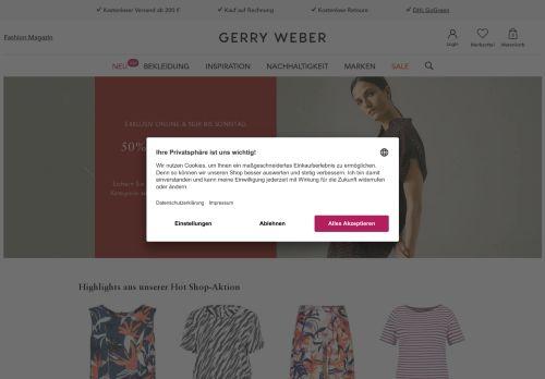 Gerry Weber Website Screenshot