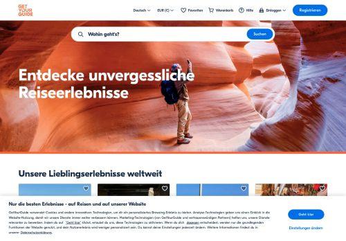 GetYourGuide Website Screenshot