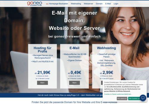 goneo Website Screenshot