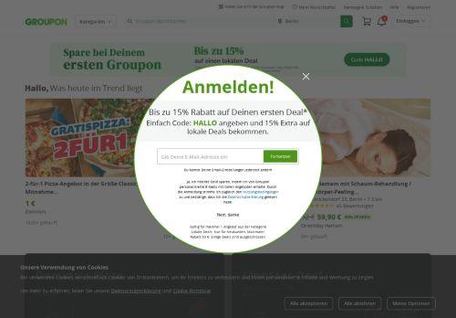 Groupon Website Screenshot