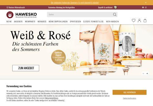 Hawesko Website Screenshot