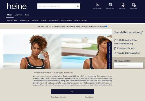 Heine Website Screenshot