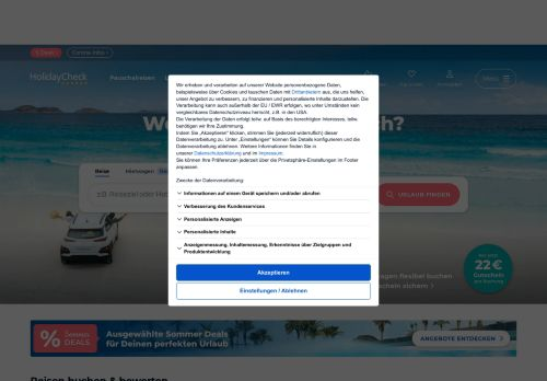 Holiday Park Website Screenshot