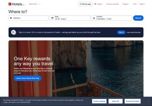 hotels.com Website Screenshot