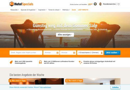 HotelSpecials.de Website Screenshot