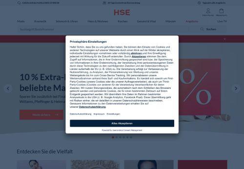 HSE Website Screenshot