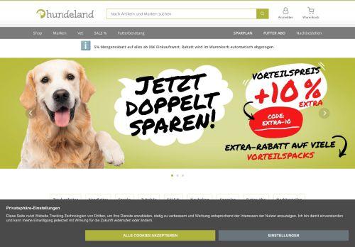 hundeland.de Website Screenshot