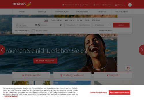 Iberia Website Screenshot