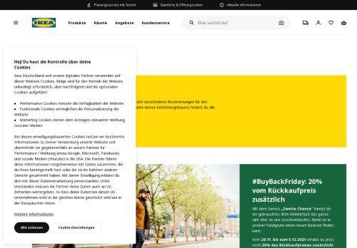 IKEA Website Screenshot