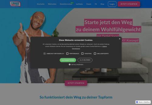 I make you Sexy (vormals 10 Weeks Body Challenge) Website Screenshot