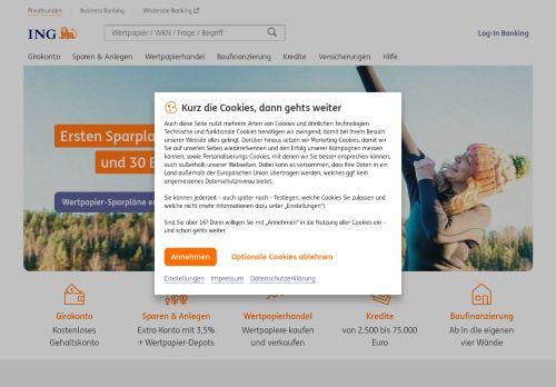 ING Bank Website Screenshot