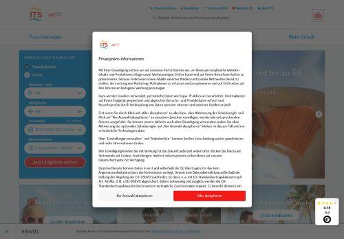 ITS Reisen Website Screenshot