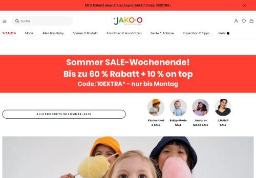 JAKO-O Website Screenshot