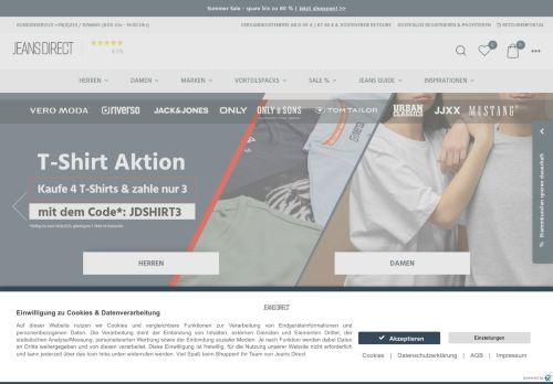 JEANS-DIRECT.DE Website Screenshot