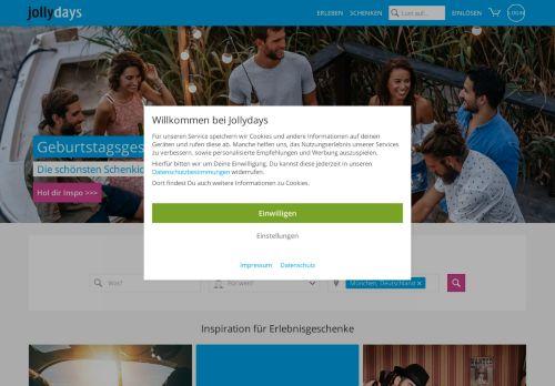 Jollydays Website Screenshot