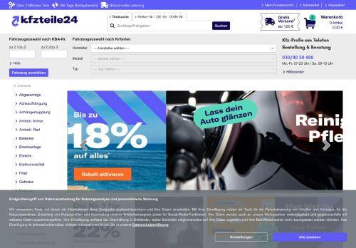 AutoteileStore.com Website Screenshot
