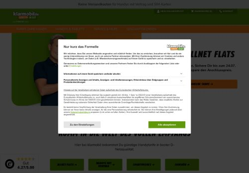 klarmobil Website Screenshot