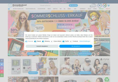 Konsolenkost Website Screenshot