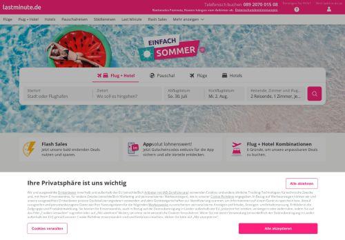 lastminute.de Website Screenshot