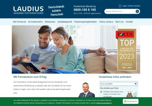 IUBH Fernstudium Website Screenshot
