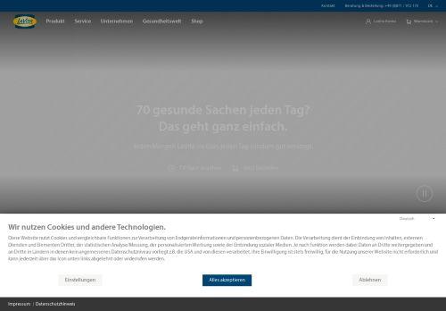LaVita Website Screenshot
