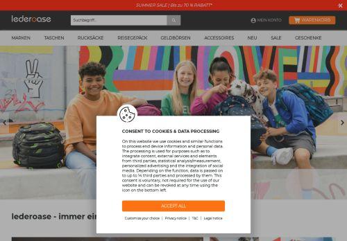 Lederoase Website Screenshot