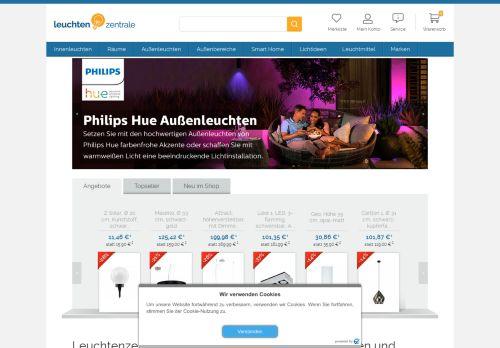 Leuchtenzentrale Website Screenshot