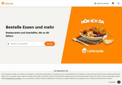 lieferando Website Screenshot
