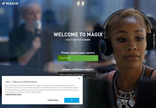 MAGIX Video deluxe Website Screenshot