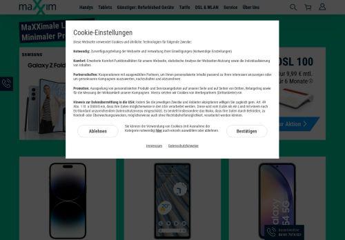 maXXim Website Screenshot