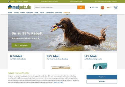 Medpets Website Screenshot