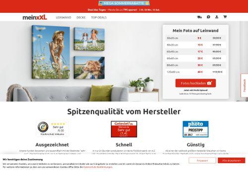 MeinXXL.de Website Screenshot