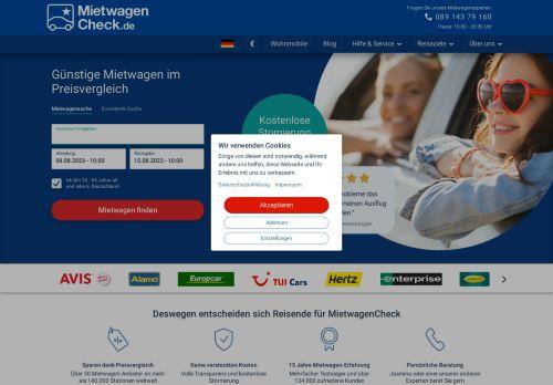Auto Europe Website Screenshot